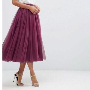 NWOT ASOS stunning plum ball tulle skirt